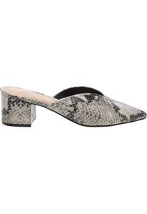 Mule Block Heel Cava Python | Schutz