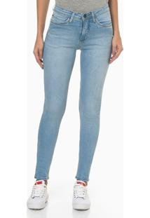 Calça Jeans Feminina Super Skinny Pesponto Triplo Azul Claro Calvin Klein Jeans - 34