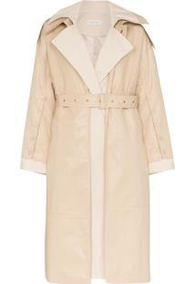 Low Classic Trench Coat De Algodão Com Cinto - Neutro
