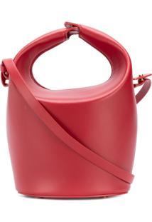 Nico Giani Bolsa Bucket De Couro - Vermelho