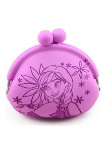 Porta Moeda Anna Rosa/Lilás Frozen Disney