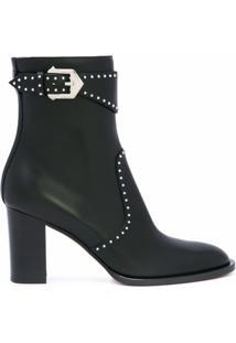 Givenchy Ankle Boot Com Aplicação De Tachas - Preto