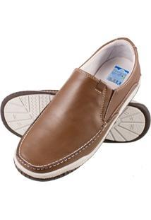 Sapato Atron Shoes Confort Caramelo