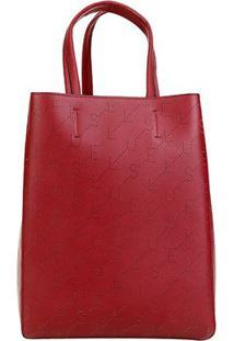 Bolsa Ellus Shopping Bag Dupla Face Feminina - Feminino-Vermelho