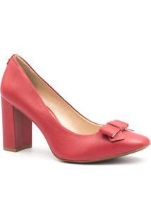 Sapato Jorge Bischoff Scarpin Salto Laço Vermelho