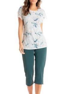 Pijama Daniela Tombini Feminino - Feminino-Verde