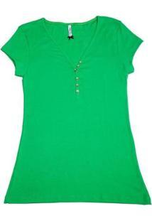 Blusa Via Costeira Em Algodão Feminina - Feminino-Verde