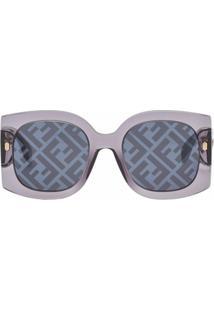 Fendi Óculos De Sol Quadrado Fog440V1P - Cinza