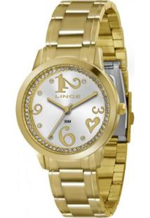 Relógio Feminino Lince Analógico Lrg4274L S2Kx - Unissex-Dourado