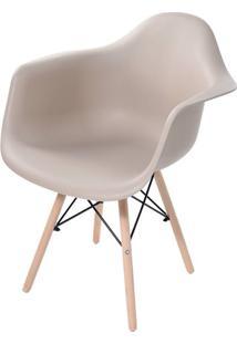 Cadeira Arm Com Braco Fendi Fosco Base Madeira Clara - 51953 - Sun House