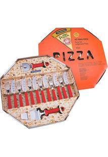 Kit Para Pizza 14 Pçs Tramontina Lamina De Aço Inox