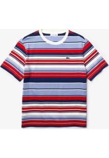 Camiseta Lacoste Relaxed Fit Feminina - Feminino-Violeta+Vermelho