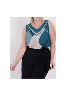 Blusa Regata Cativa Plus Size Feminina Verde