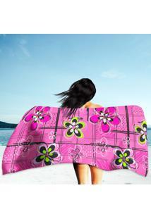 Toalha De Praia / Banho Flores