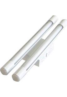 Luminária Tubular Com Reator Para 2 Lâmpadas Fluorescentes 20W Branca Tualux