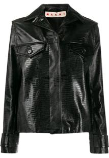 Marni Lizard-Effect Jacket - Preto