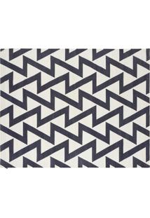 Tapete Dhurie Zig Zag Off White/Black