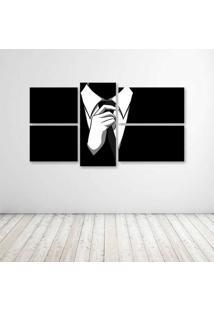Quadro Decorativo - Black - Composto De 5 Quadros