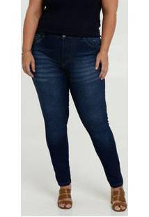 Calça Jeans Feminina Skinny Strass Plus Size Marisa