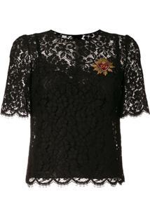 Dolce & Gabbana Blusa 'Sacred Heart' - Preto