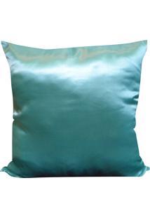 Capa Para Almofada Cetim Liso 45X45 - Perfil Matelados - Azul Água