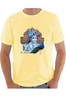 Camiseta Milá Om Shanti Zen - Masculino-Amarelo