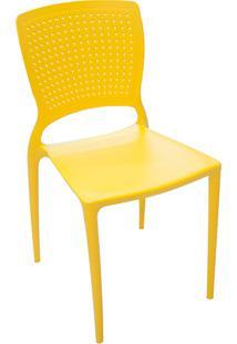 Cadeira Safira Polipropileno Amarela - Tramontina