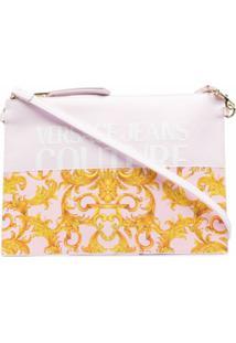 Versace Jeans Couture Logo-Print Clutch Bag - Rosa