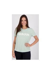 Camiseta Adidas Essentials Linear Feminina Verde