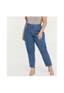 Calça Plus Size Feminina Mom Jeans Cintura Alta Marisa
