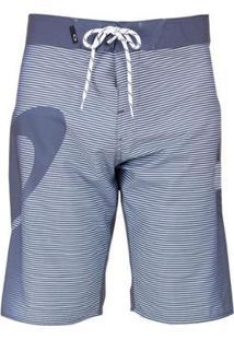 Bermuda Água Oakley Faded Stripes Masculina - Masculino-Cinza