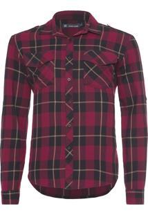 Camisa Masculina Alan - Vermelho