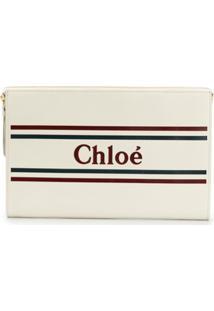 Chloé Porta-Moedas Com Logo - Neutro