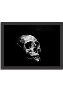 Quadro Decorativo Dark Skull Preto - Grande