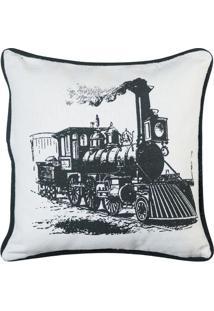 Capa Para Almofada Locomotiva- Branca & Preta- 40X40Artesanal