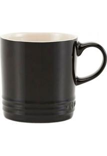 Caneca Cappuccino 200 Ml Preto Black Onix Le Creuset