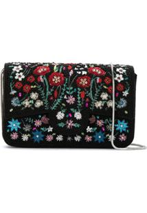 Isla Clutch Bordada - Preto