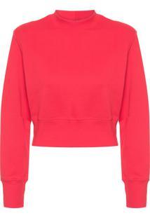 Blusa Feminina Moletom Cool Shape - Vermelho
