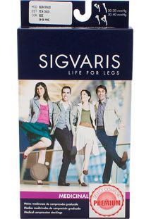 Meia Calça Sigvaris Select Comfort Premium 20-30 Mmhg P (Tamanho Pequeno) Normal, Cor Natural, Ponteira Aberta