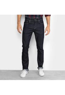 Calça Jeans Slim Lacoste Fit Masculina - Masculino-Azul