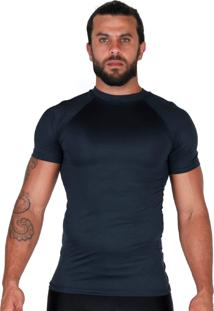 Camisa Térmica Proteção Uv Curta Bravaa Modas 038 Preto