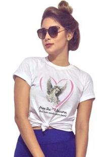 Camiseta Joss Free The Unicorn Feminina - Feminino-Branco