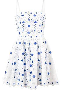 Alice+Olivia Vestido Com Aplicação Floral - Branco