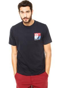Camiseta Nautica Classic Fit Costura Azul