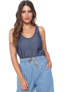 Regata Jeans Hering Pesponto Azul