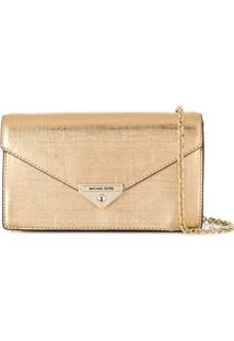 Michael Michael Kors Envelope Cross Body Bag - Dourado