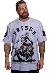 Camiseta Prison Tigre Romano Branca