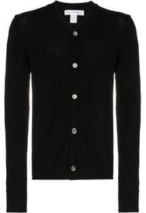 Comme Des Garçons Shirt Cardigã Com Botões - Black