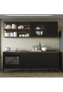 Cozinha Compacta Kappesberg Cbpo054 Pop 6 Portas 3 Gavetas