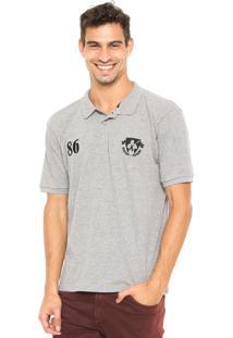 Camisa Polo Mr. Kitsch Falum Cinza
